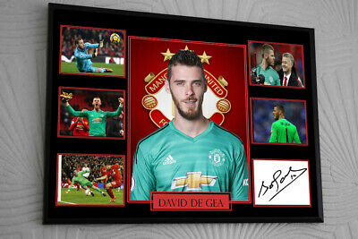 DAVID DE GEA MANCHESTER UNITED Framed A4 Canvas Tribute Print  Signed    • 17.99£