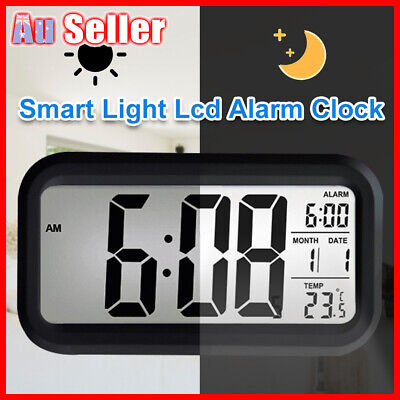 AU15.68 • Buy Led With Calendar+Thermometer Backlight Electronic Alarm Clock Digital IBQ& Time