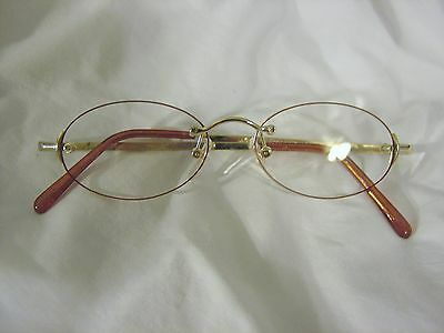 c219c75066b Foster Grant Reading Glasses 1.00 RIMLESS Gold Metal BRAND NEW Readers •  11.49