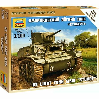 AU3.82 • Buy Zvezda 6265 M3A1  Stuart  /american Light Tank/ 1/100
