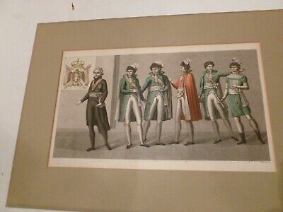$110 • Buy Antique Engraving From   Costume Ancien Et Modern  1820, By Carlo Bottigella.#67