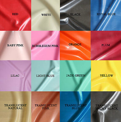 £3.50 • Buy 0.25mm Gauge Sheet Latex/Rubber By Continuous Metre - 1m Width - 18 Colours