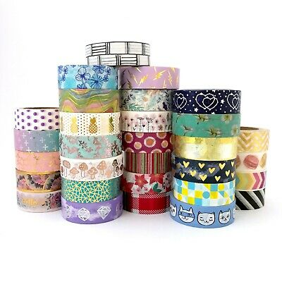AU5.50 • Buy Washi Tape Multi-Coloured Gold Foil - Bulk Lot 15mm X 10mm