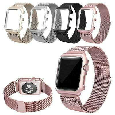$ CDN13.62 • Buy Milanese Stainless Steel IWatch Band Strap+Cover Case Apple Watch Series 3/2/1