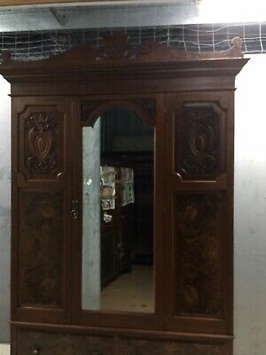 AU650 • Buy Antique Mahogany Wooden Wardrobe