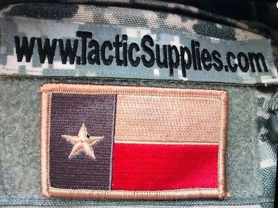 $5.99 • Buy Texas Tx State Flag Army Military Army Patch Hook Loop Red Tan Blue & Magpul