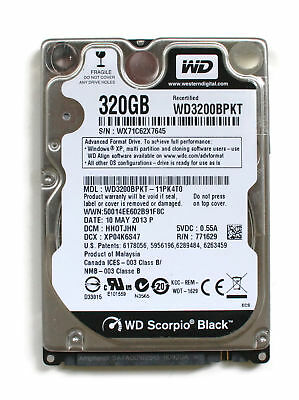AU246.96 • Buy Wd Scorpio Black 320gb 2.5'' Hdd, 10may2013 P, Dcm: Hhotjhn