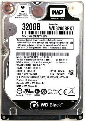AU246.96 • Buy Wd Scorpio Black 320gb 2.5'' Hdd, 17jul2013 R, Dcm: Ehotjhb