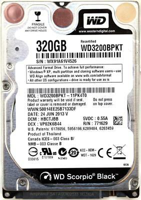 AU246.96 • Buy Wd Scorpio Black 320gb 2.5'' Hdd, 24jun2013 V, Dcm: Hbctjbb