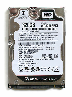 AU246.96 • Buy Wd Scorpio Black 320gb 2.5'' Hdd, 22jun2013 V, Dcm: Haotjab