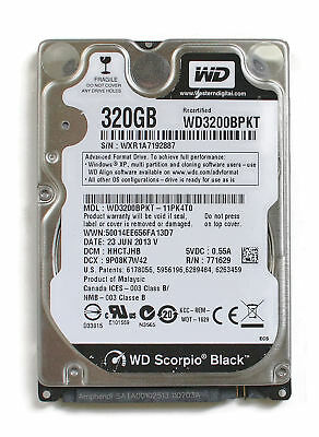AU246.96 • Buy Wd Scorpio Black 320gb 2.5'' Hdd, 23jun2013 V, Dcm: Hhctjhb