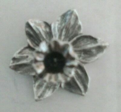 £5.99 • Buy Silver Welsh Pewter Daffodil Lapel Pin Badge