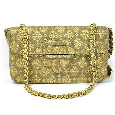 098b862fb47b25 Auth PRADA Triangle Logo Plate Clutch Bag Shoulder Bag Nylon/Goldtone -  X2154 • 478.00