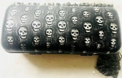 £13.32 • Buy Black Skulls Evening Bag By Trend With A Chain Strap, Diamante Clasp. New.