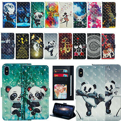 AU16.55 • Buy For IPhone 6S 8 7 Plus XR XS MAX Flip Painted Magnetic Leather Wallet Case Cover