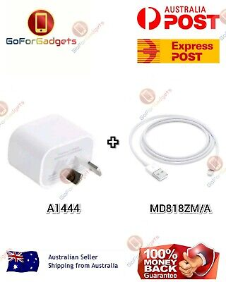 AU12.59 • Buy GENUINE Apple Wall Charger + Lightning Cable For IPhone 5 6 7 8 X XR XS AU STOCK