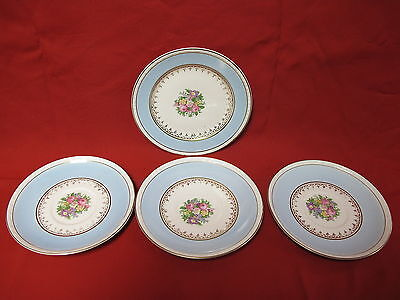 $29.99 • Buy Homer Laughlin Eggshell Georgian Chateau Blue 3 Saucers 1 Bread & Butter Plate