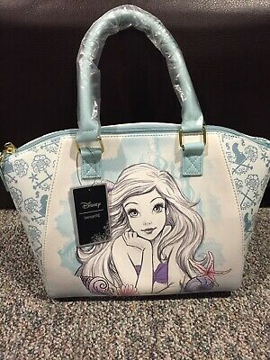 811107681df Loungefly Disney The Little Mermaid Ariel Watercolor Bag Handbag Satchel  Purse • 59.99