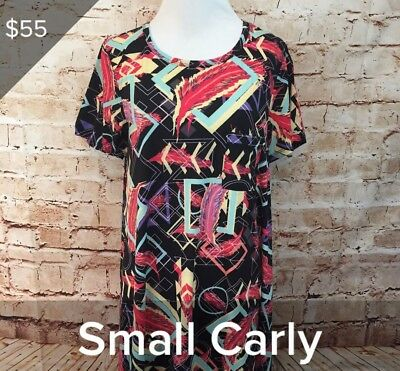 $ CDN39.02 • Buy LuLaRoe Size Small S Carly Dress YOU CHOOSE THE PRINT Feathers Aztec Stripes NWT