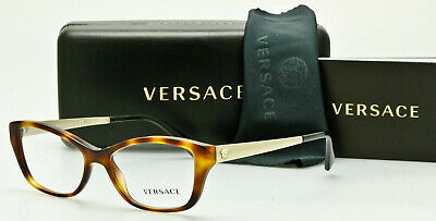 03d8f8c186f57 VERSACE EYEGLASSES Frame Havana-Tortoise-Gold Mod 3236 5217 52mm   AUTHENTIC  •