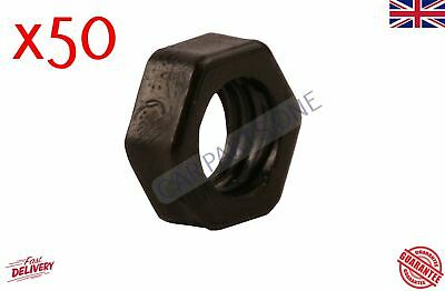 50X NYLON PLASTIC FULL NUTS FOR M8 SCREWS AND BOLTS 8mm BLACK • 4.75£