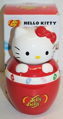 Hello Kitty Ceramic Candy Jar Jelly Belly Sanrio 2010 SIL-34202 Box Japan Beans • 19.28£
