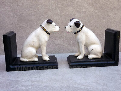 HMV Bookends Nipper His Masters Voice Cast Iron Reproduction Vintage Style  • 21.99£