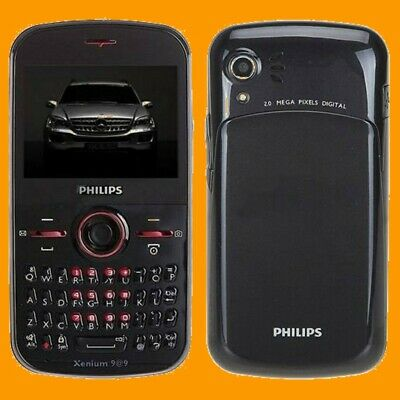 $169.99 • Buy Philips Xenium F322 2MP LED FM MP3 A2DP QWERTY Dual SIM Standby GSM Cell Phone
