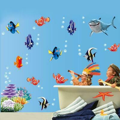 Seabed Fish Bubble Wall Sticker Cartoon For Kids Rooms Bathroom Home Decor Nurse • 10.37£