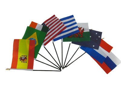 £2.99 • Buy TABLE DESK TOP FLAG ALL COUNTRIES Without Base FREE UK POST HUGE CHOICE