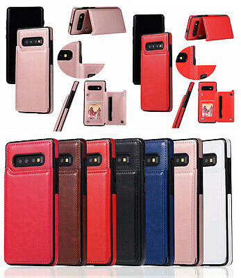 AU9.81 • Buy Premium Hybrid TPU & Leather Case With Card Holder For Samsung S10 Plus S10E S8