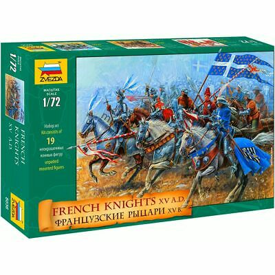 Zvezda 8036 French Knights XV A.D. (19 Figures & 19 Horses ) 1/72 • 3.36£