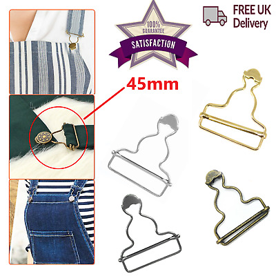 £2.69 • Buy Dungaree Buckles 45mm Metal Clips DIY Fasteners For Sewing Clothings Jumpsuits