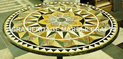 AU2881.84 • Buy 36  Marble Black Round Dining Table Top Pietra Dura Inlay Furniture Decor H3424A