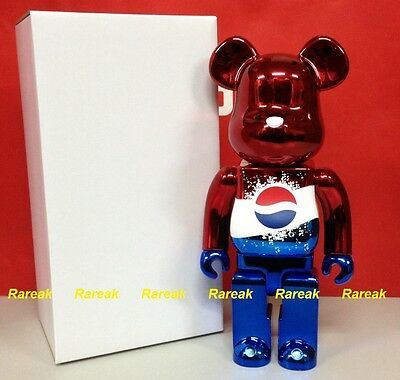 $1044.99 • Buy Medicom Be@rbrick 2011 Pepsi Coca Cola Metallic Red Limited 400% Bearbrick