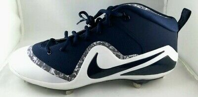 46d119dec4e Mens Nike Zoom Trout 4 Baseball Cleats Size 11 Navy Blue White Grey METAL