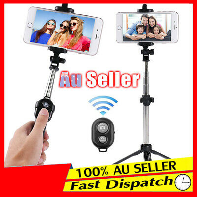 AU12.92 • Buy 3 In 1 Tripod Mobile Phone Mini Extendable Selfie Stick Folding Bluetooth Wired