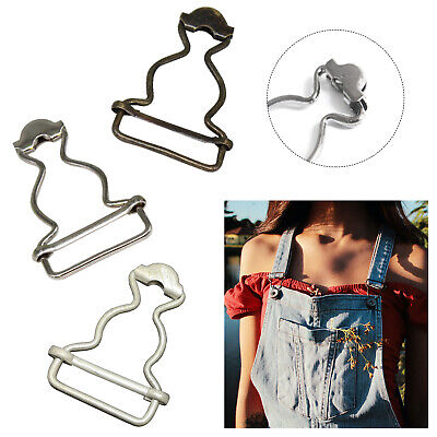£2.79 • Buy 2/10pcs Silver Bronze 25mm Small Dungaree Buckles Metal Clips Fasteners Jumpsuit
