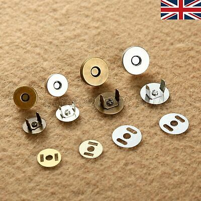 Magnetic Purse Snaps Fasteners Clasps Closures Buttons Sewing 14mm/18mm UK STOCK • 5.61£