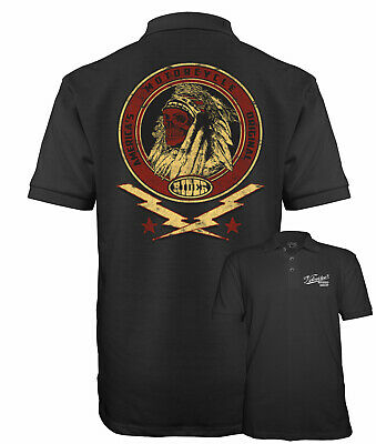 £15.95 • Buy Velocitee Mens Polo Shirt Native Indian America's Motorcycle Biker A17779