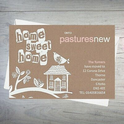 Personalised Handmade Change Of Address New Home House Moving Cards AC60 • 4£