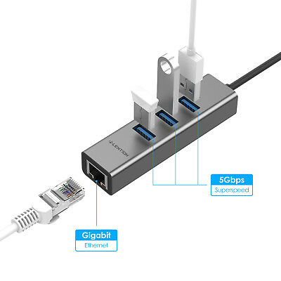 AU28.36 • Buy LENTION USB-C HUB 3.1 To Gigabit Ethernet USB 3.0 Adapter For MacBook Pro Dell