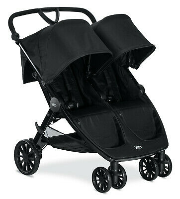 Britax B-Lively Double Stroller - Raven Black - Brand New Free Shipping! • 311.14£