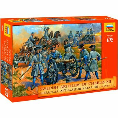 Zvezda 8066 Swedish Artillery Of Charles XII XVII-XVIII A.D. (37 Figures)  1/72 • 4.99£