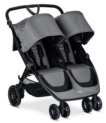 Britax B-Lively Double Stroller - Dove Grey - Brand New Free Shipping! • 311.14£