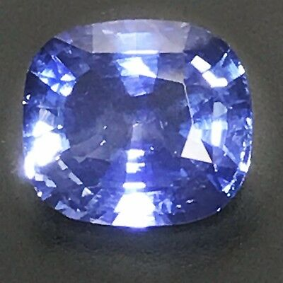 Natural 4.20 Carat Unheated Blue Sapphire Cushion Genuine Loose Gemstone Ceylon  • 3,875$