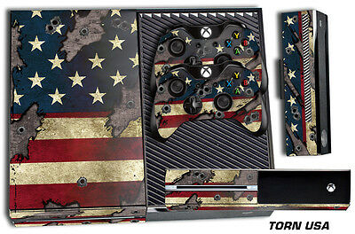 $9.45 • Buy Skin For XBOX ONE 1 Console 2 Controller Graphics Sticker Wraps Decal USA TORN