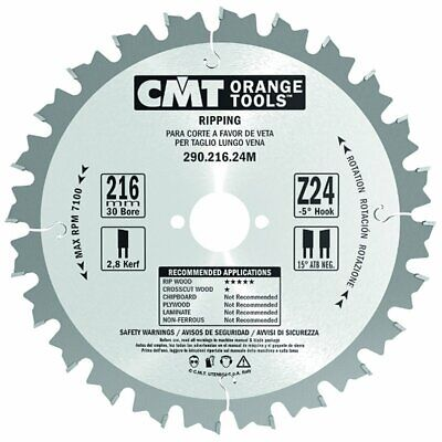 300mm Z=72 ATB Id=30 CMT Table / Rip Saw Blade • 57.54£