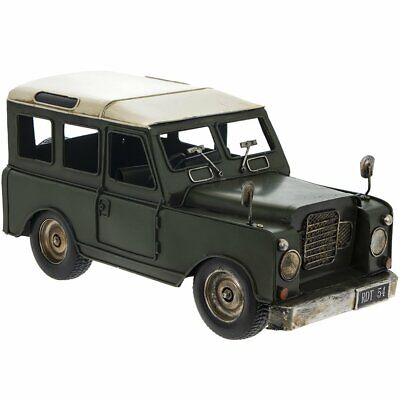 Metal Tin Model - 4x4 Land Rover Style CAR (Green) 33cm *NEW* Boxed  • 32.99£