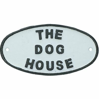 £7.49 • Buy The Dog House Cast Iron Sign Plaque Door Wall House Fence Gate Garden Shed